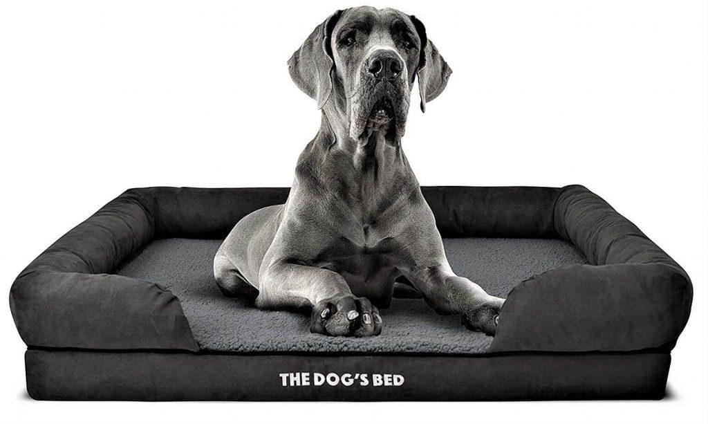 The Dog's Bed Orthopedic Dog Bed XL Grey Plush 43.5x34