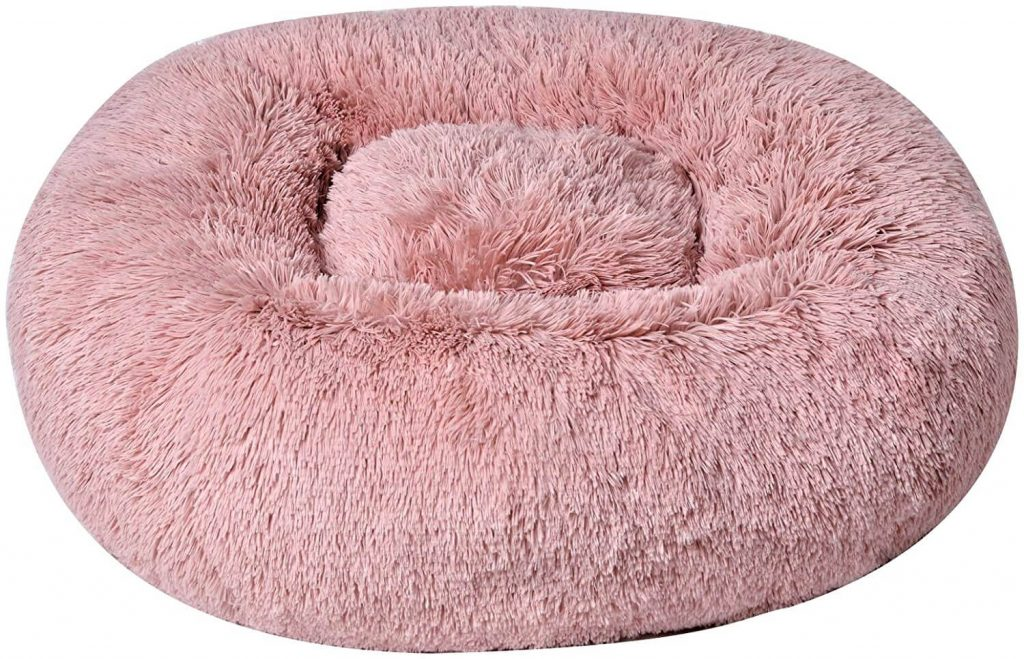 BinetGo Dog Bed Cushion Bed Faux Fur Donut Cuddler for Dog