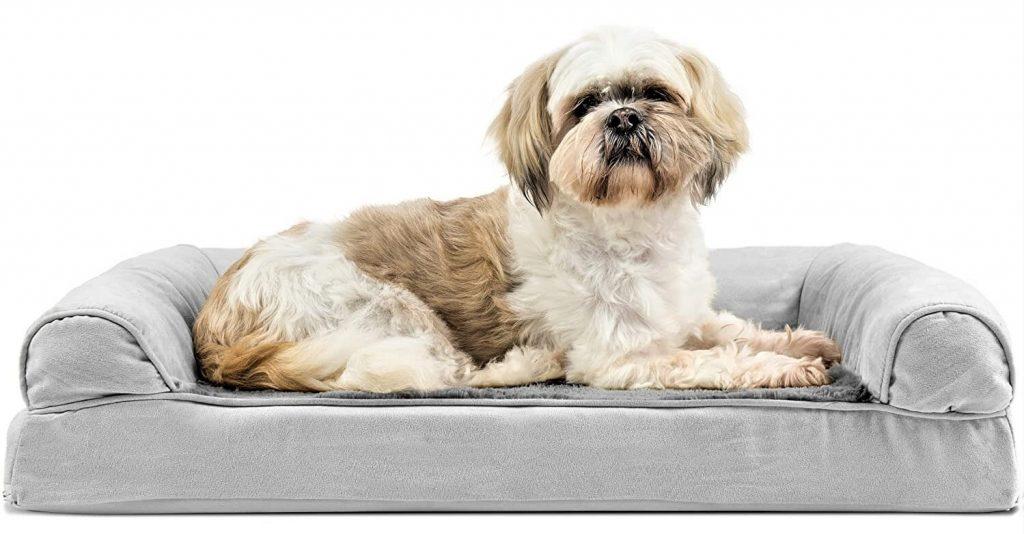 Furhaven Pet - Plush Sofa Orthopedic Dog Bed