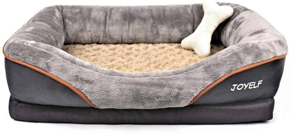 JOYELF Orthopedic Dog Bed Memory Foam Pet Washable Bed