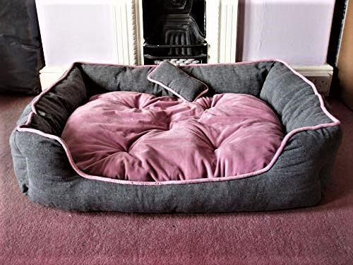 Petitude Reversable Soft Ethenic Designer Velvet Bed for Dog